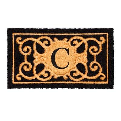 Columbard Debossed Monogram Coir Doormat Letter: C