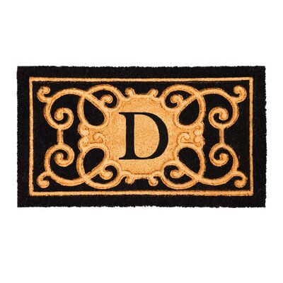 Columbard Debossed Monogram Coir Doormat Letter: D