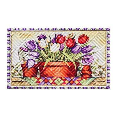 Borrero Tulip Basket Embossed Doormat