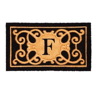 Columbard Debossed Monogram Coir Doormat Letter: F