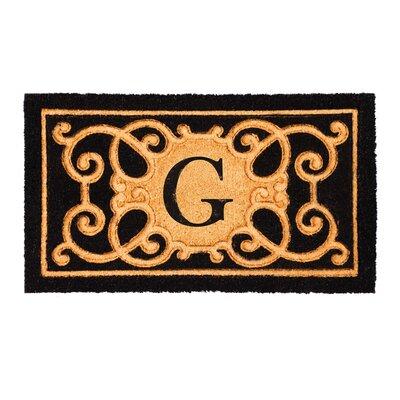 Columbard Debossed Monogram Coir Doormat Letter: G