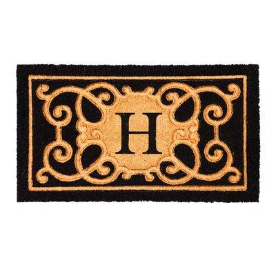 Columbard Debossed Monogram Coir Doormat Letter: H