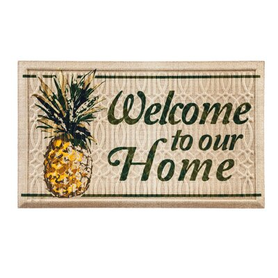 Columbard Welcome to Our Home Pineapple Embossed Doormat