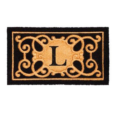Columbard Debossed Monogram Coir Doormat Letter: L