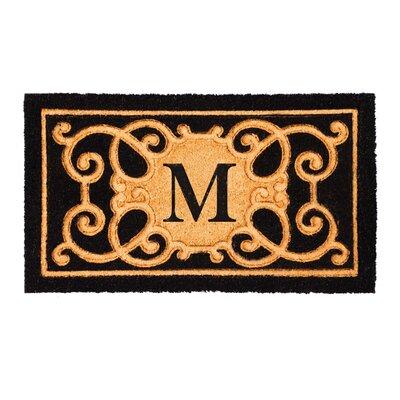 Columbard Debossed Monogram Coir Doormat Letter: M