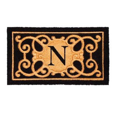 Columbard Debossed Monogram Coir Doormat Letter: N