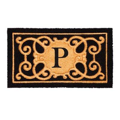 Columbard Debossed Monogram Coir Doormat Letter: P
