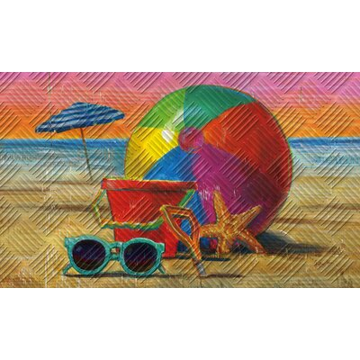 No�l Beach Ball Embossed Doormat