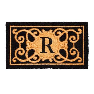 Columbard Debossed Monogram Coir Doormat Letter: R