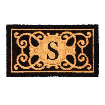 Columbard Debossed Monogram Coir Doormat Letter: S