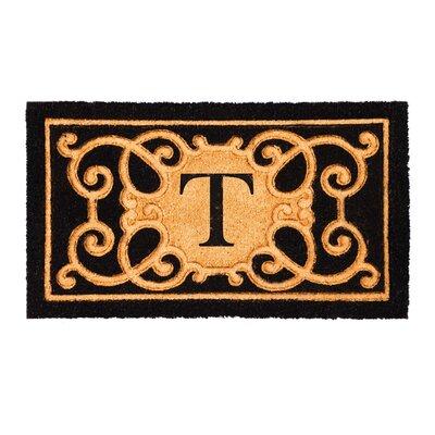 Columbard Debossed Monogram Coir Doormat Letter: T