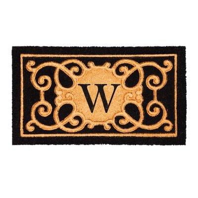 Columbard Debossed Monogram Coir Doormat Letter: W