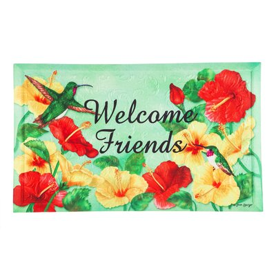 DeLussey Hummingbird Welcome Embossed Doormat