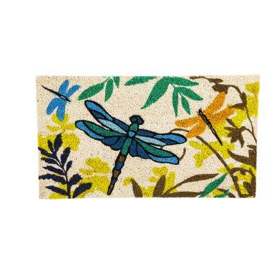 DeLussey Dragonflies Coir Doormat