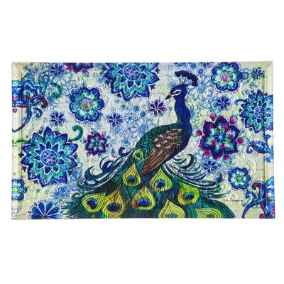 Feldt Peacock Embossed Doormat