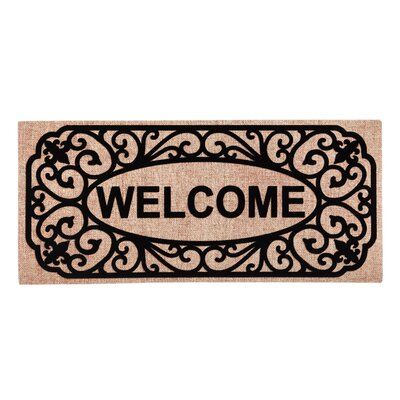 Columbard Filigree Welcome Sassafras Switch Doormat