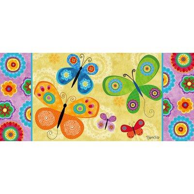 DeLussey Flight of Fancy Butterflies Sassafras Switch Doormat