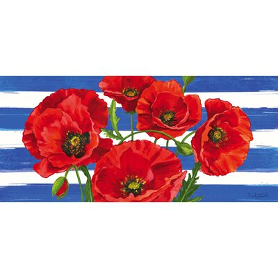 DeLussey Poppies and Stripes Sassafras Switch Doormat