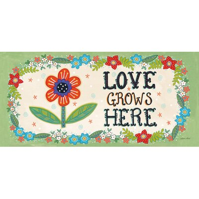 DeLussey Love Grows Here Sassafras Switch Doormat