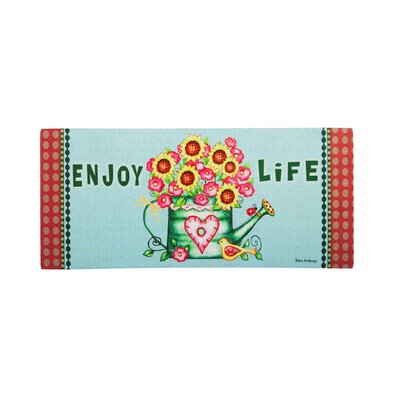 Borrero Enjoy Life Watering Can Sassafras Switch Doormat