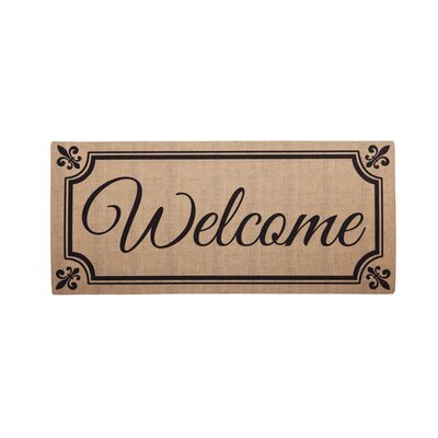 Ceron Fleur De Lis Welcome Sassafras Switch Doormat
