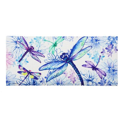 DeLussey Welcome Spring Dragonfly Sassafras Switch Doormat