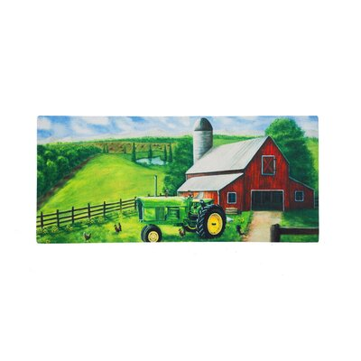 Borrero Tractor in a Barn Sassafras Switch Doormat