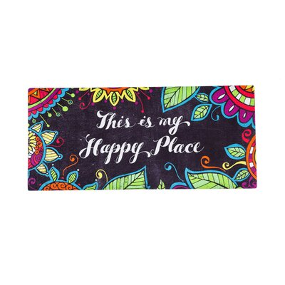 Freetown This Is My Happy Place Sassafras Switch Doormat