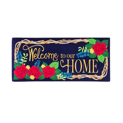 DeLussey Welcome to Our Home Sassafras Switch Doormat