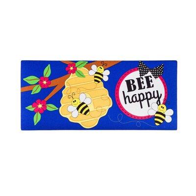 DeLussey Bee Happy Sassafras Doormat