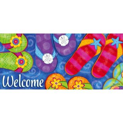 No�l Sunny Flip Flops Sassafras Switch Doormat 90E9FA7C2CBC4211B786ADE8C7345BD2