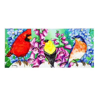 Borrero Birds on Fence Sassafras Switch Doormat