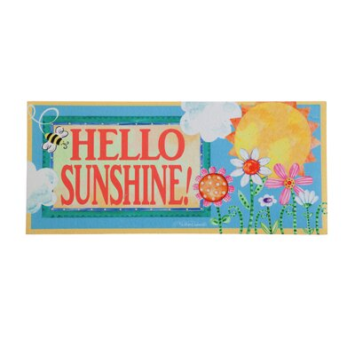 DeLussey Hello Sunshine Sassafras Switch Doormat