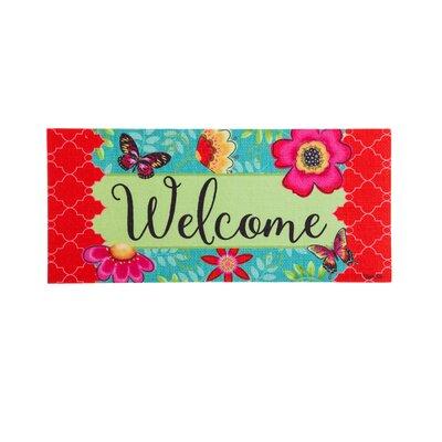 DeLussey Butterflies and Flowers Sassafras Switch Doormat