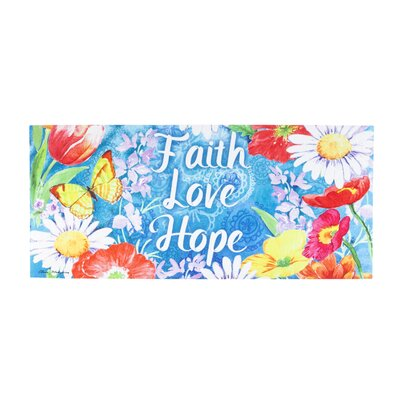 DeLussey Faith Love Hope Sassafras Switch Doormat
