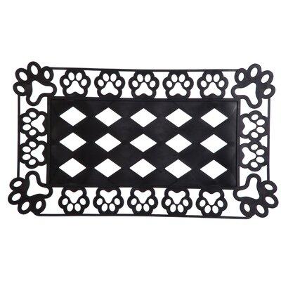 DeLussey Paw Prints Sassafras Tray Doormat