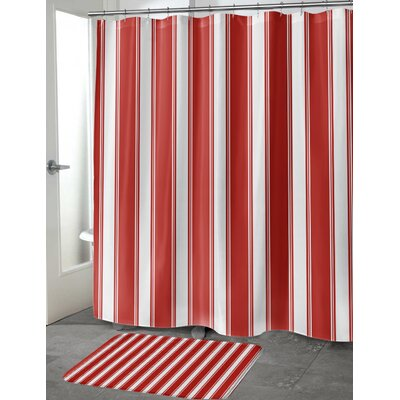 Grenville Stripes Shower Curtain Size: 70 H x 90 W