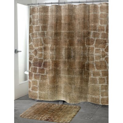 Eckhart Shower Curtain Color: Ivory, Size: 70 H x 90 W