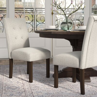 Traynor 4-Button Tufted Side Chair Upholstery: Gray