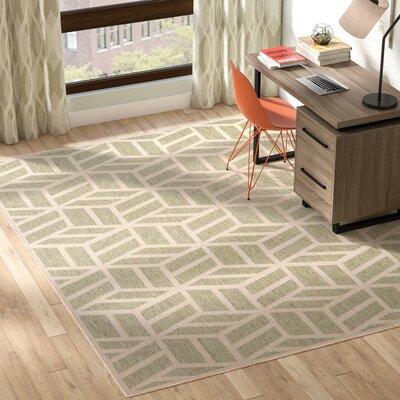Kaliyah Olive/Beige Indoor/Outdoor Area Rug Rug Size: Rectangle 5 x 76