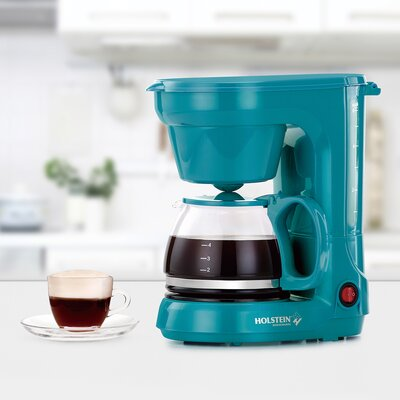 6 Cup Coffee Maker Color: Teal HH-0914701E