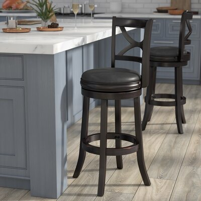 Burr 29 Swivel Bar Stool Finish: Solid Black