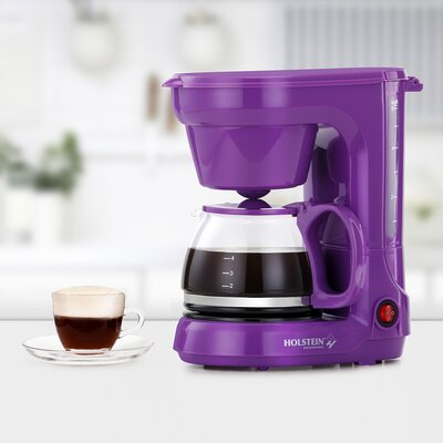 6 Cup Coffee Maker Color: Purple HH-0914701P