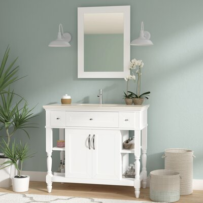 Burbank Bathroom Vanity Set 42 Base Finish: Off White