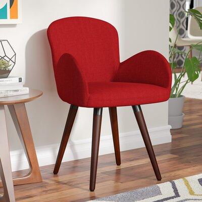 Khloe Armchair Upholstery: Burgundy