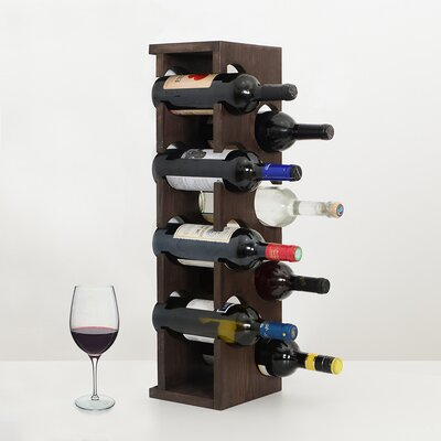 Benally 8 Bottle Tabletop Wine Rack Finish: Dark Brown