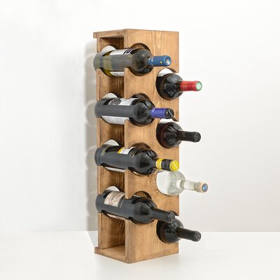 Benally 8 Bottle Tabletop Wine Rack Color: Natural