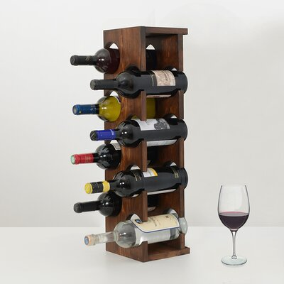Benally 8 Bottle Tabletop Wine Rack Color: Brown