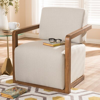 Fender Armchair Upholstery: Beige