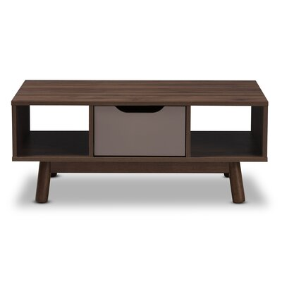 Pizarro Mid-Century Modern Wood Coffee Table